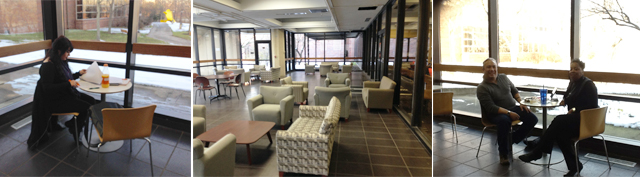Lakeside Lounge, a new student lounge, is open